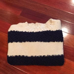 Woven Heart striped sweater